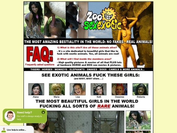 Get Free Zoo Sex Exotic Account