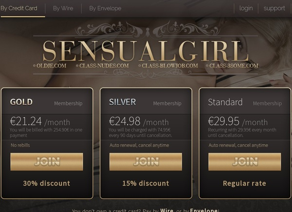 Sensual Girl Paiement