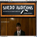 Sordid Auditions V2 Sign Up Form