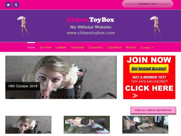 Chloes Toy Box Member Password