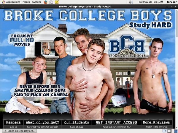 Broke College Boys Free Pass