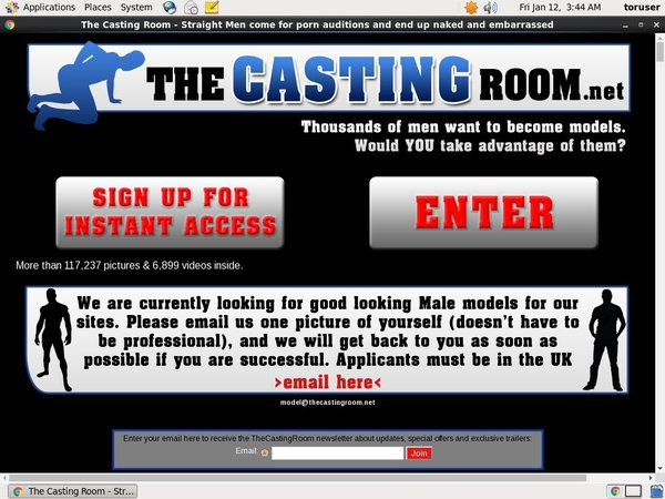 The Casting Room With Credit Card